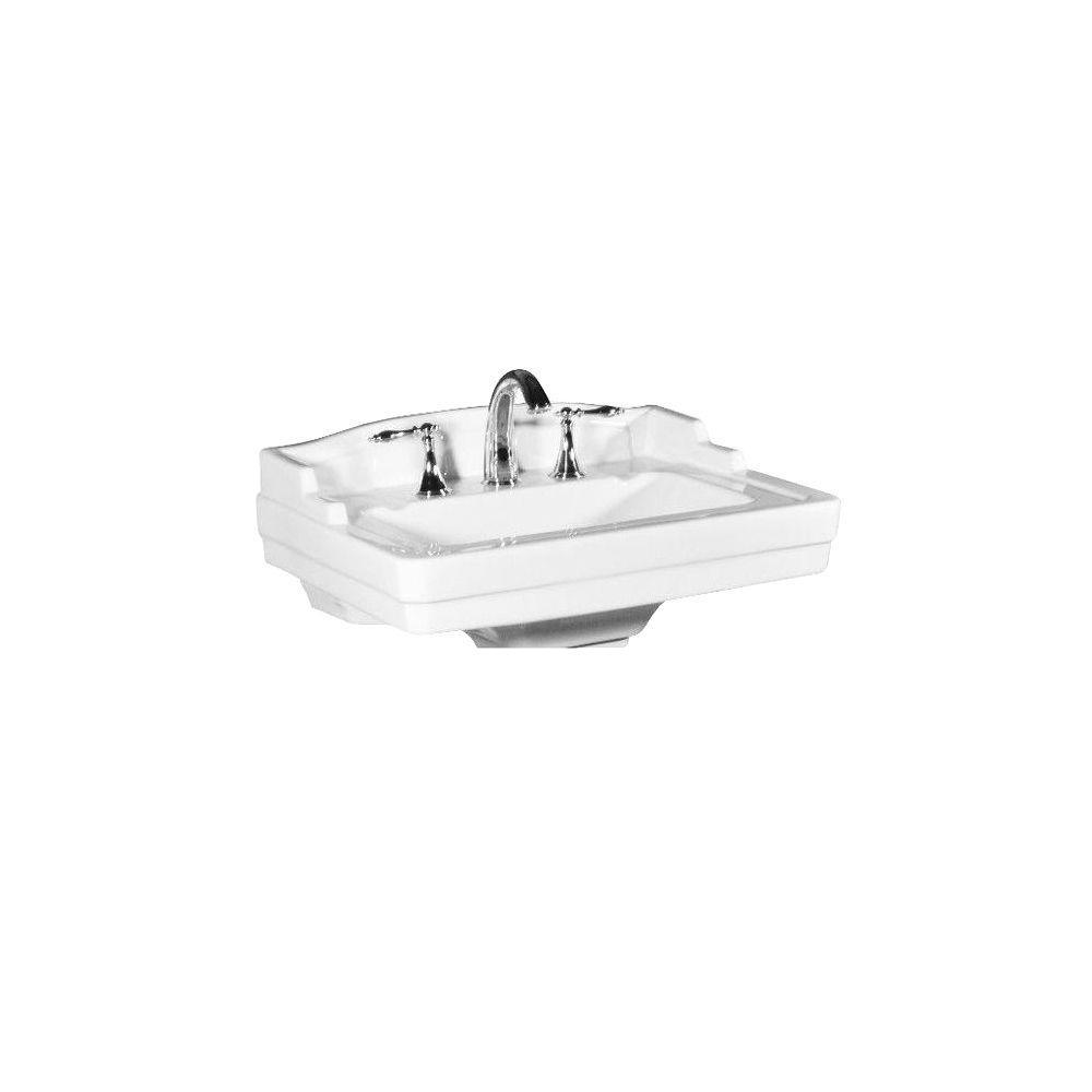 St. Thomas Creations Neo-Venetian Pedestal Sink Basin in White