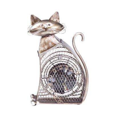 7 in. Figurine Fan-Cat Small
