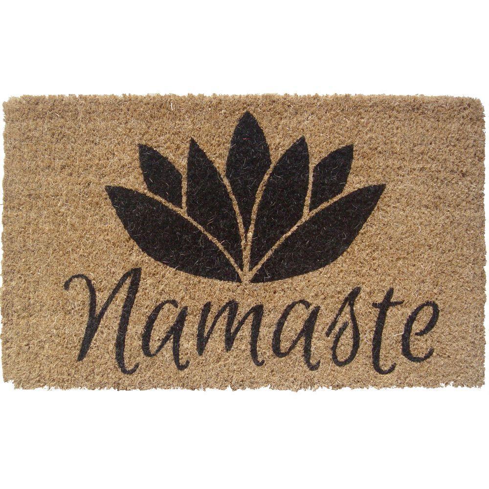 Namaste 18 in. x 30 in. Hand Woven Coconut Fiber Door Mat