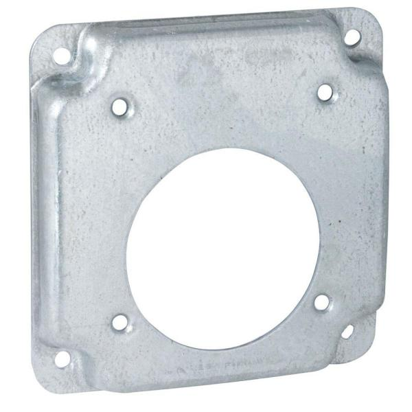 4 in. Square Exposed Work Cover for Single 30-50A Round Devices (10-Pack)