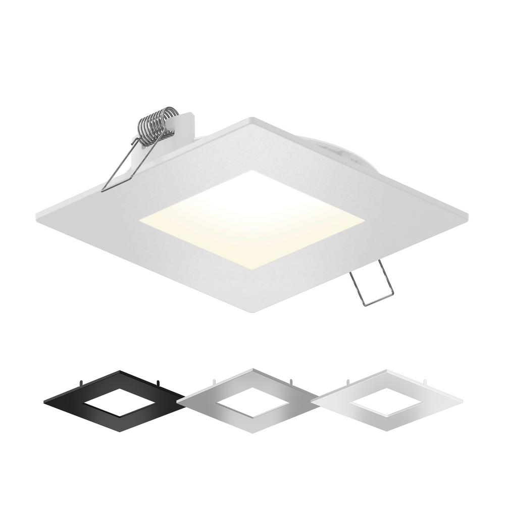 Illume Lighting 4 In Color Selectable New Construction Or Remodel Ic Rated Recessed Integrated Led