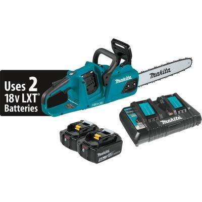 14 in. 5.0 Ah 18-Volt X2 (36-Volt) LXT Lithium-Ion Brushless Cordless Chain Saw Kit