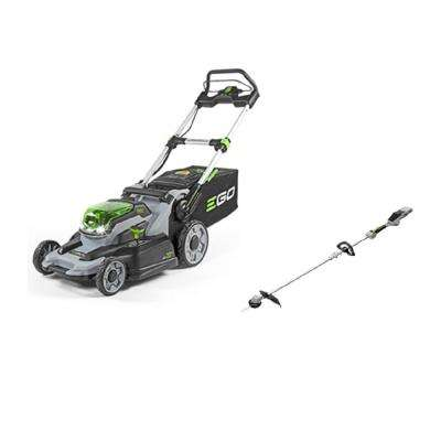 20 in. 56-Volt Lithium-ion Mower kit with 4.0Ah Battery and Charger + 15 in. Bare Tool String Trimmer Included