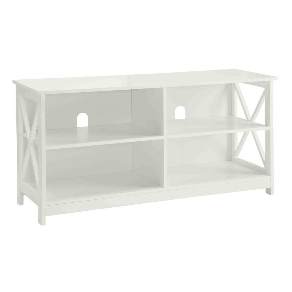 Convenience Concepts Designs2go Oxford White Storage Entertainment