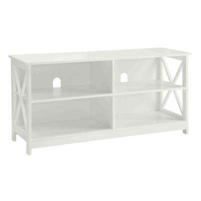 Designs2Go Oxford White Storage Entertainment Center