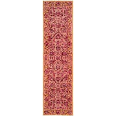 Valencia Pink/Multi 2 ft. 3 in. x 8 ft. Runner Rug
