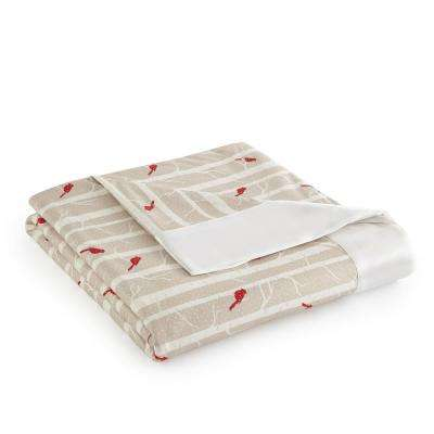 Full Queen Cardnials Year Round Polyester Sheet Blanket
