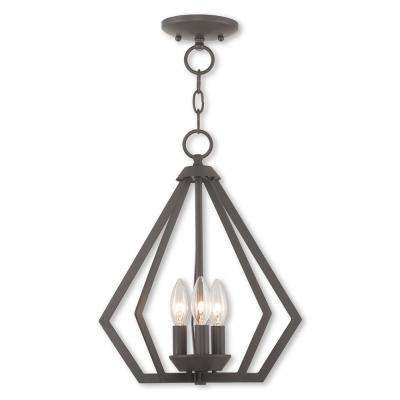 Prism 3-Light Bronze Convertible Chandelier