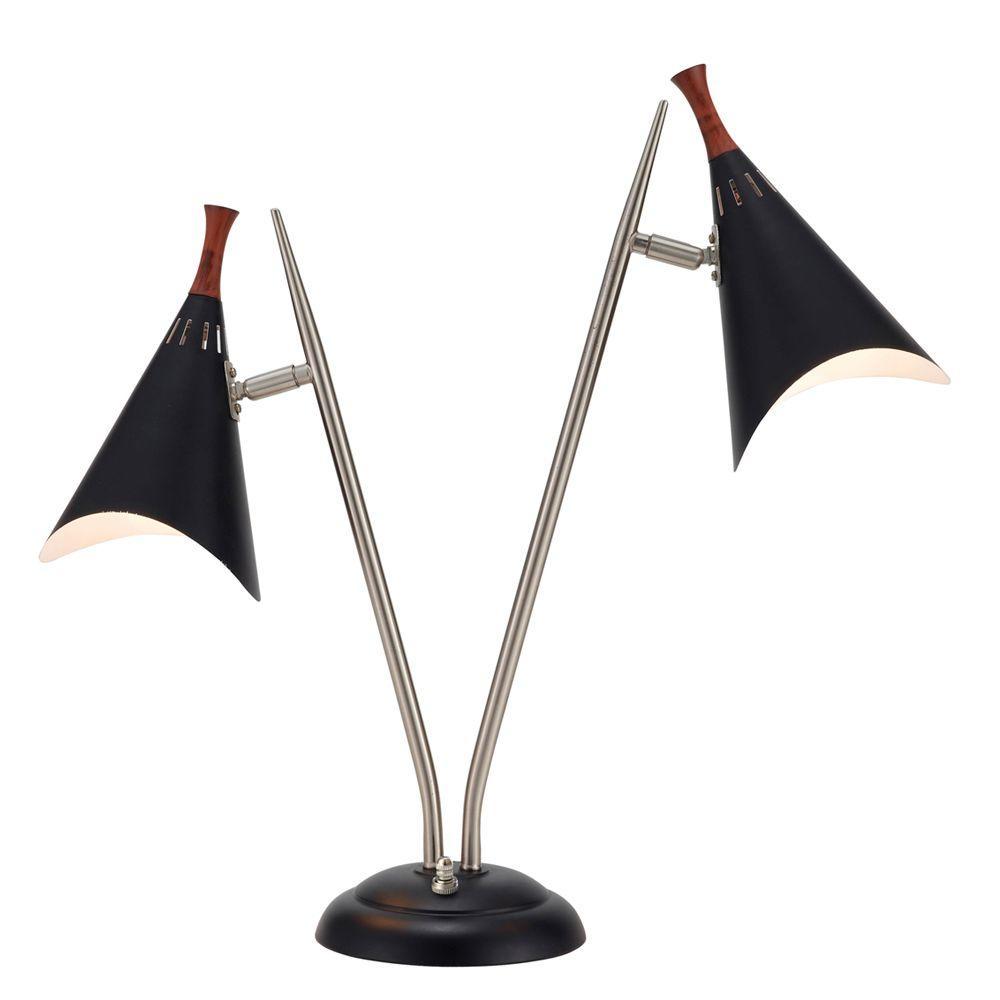Draper 22 in. Black Desk Lamp