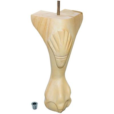 10-1/4 in. x 3-1/2 in. Unfinished Solid Hardwood Queen Ann Leg