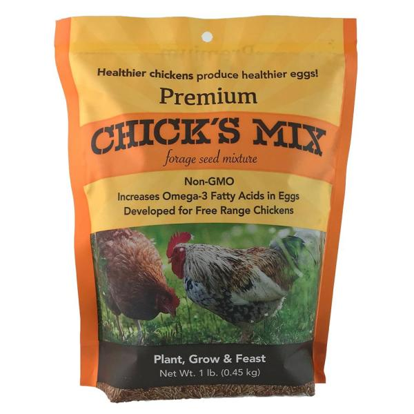 1 lb. Premium Chick's Mix Forage Seed Mixture