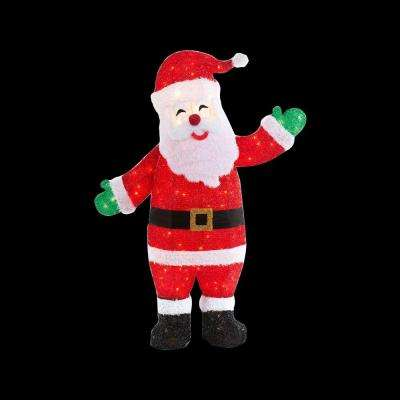pre lit tinsel animated santa - Animated Christmas Yard Decorations