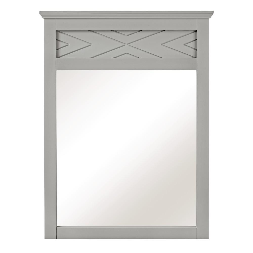 Clemente 33 in. H x 60 in. W Framed Wall Mirror in Dove Grey