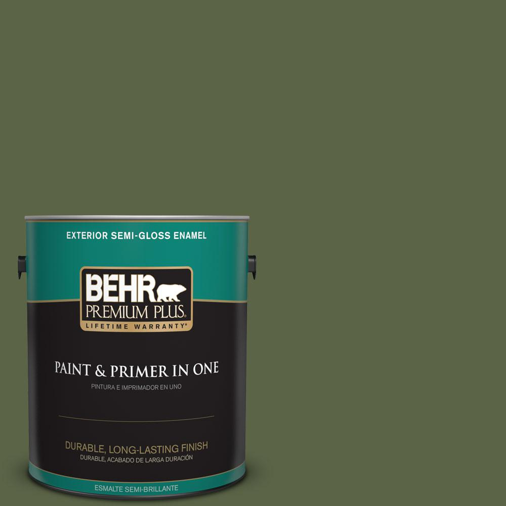1-gal. #ECC-38-3 Sea Fern Semi-Gloss Enamel Exterior Paint