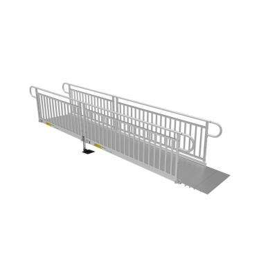 PATHWAY 3G 14 ft. Wheelchair Ramp Kit with Solid Surface Tread and Vertical Picket Handrails