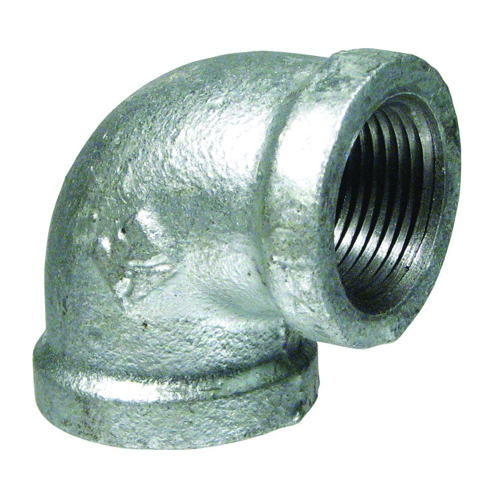 Mueller Global 1/2 in. Galvanized Malleable Iron 90 degree FPT x FPT Elbow