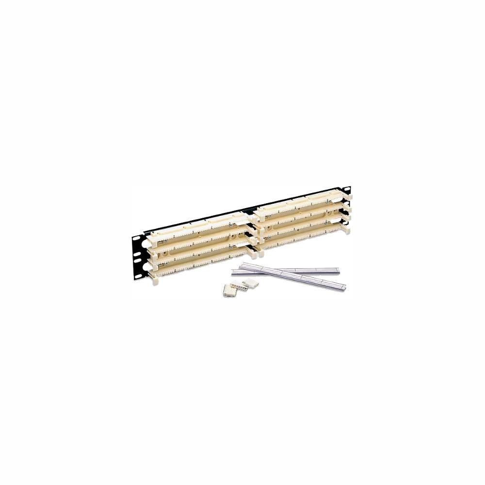 Leviton Cat 5e 110-Style Wiring Block Kit Rack Mount 3RU with C-5 Connector  Clips, Ivory (300-Pair)