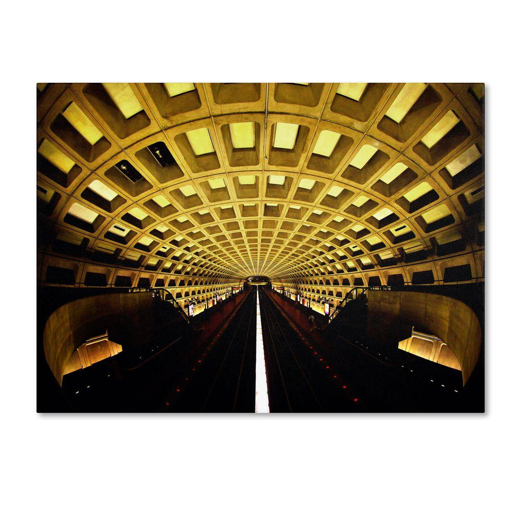 16 in. x 24 in. Lines Canvas Art