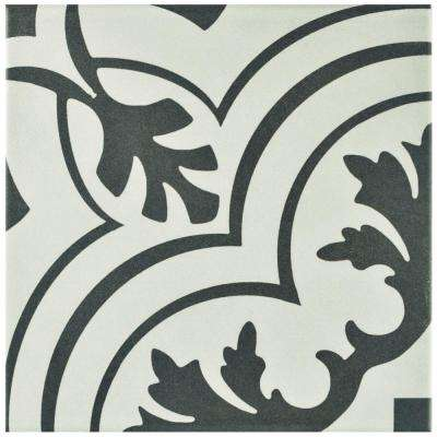 Twenties Vintage Encaustic 7-3/4 in. x 7-3/4 in. Ceramic Floor and Wall Tile (11 sq. ft. / case)