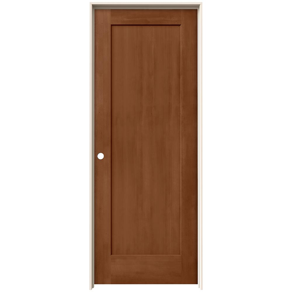 Jeld Wen 30 In X 80 In Madison Hazelnut Stain Right Hand Molded Composite Mdf Single Prehung