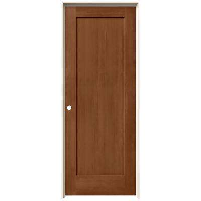 24 in. x 80 in. Madison Hazelnut Stain Right-Hand Solid Core Molded Composite MDF Single Prehung Interior Door