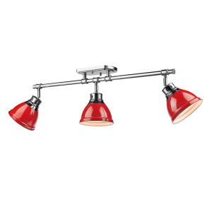 duncan 3light chrome with red shade golden