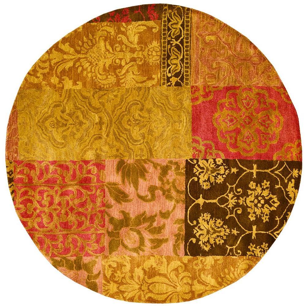 Jaipur Multicolor 6 ft. Round Area Rug