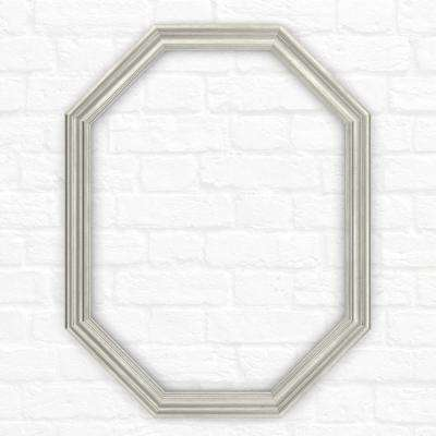 26 in. x 34 in. (M2) Octagonal Mirror Frame in Vintage Nickel