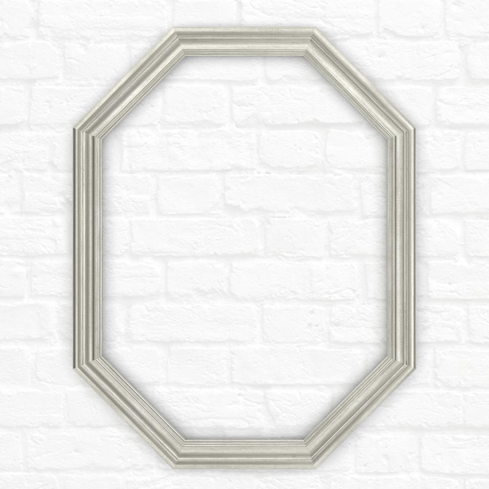 26 in. x 34 in. (M2) Octagonal Mirror Frame in Vintage Nickel