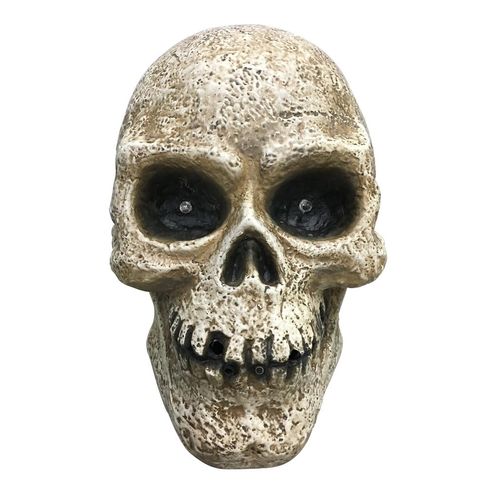 Home Accents Holiday 13.5 in. Halloween Led Halloween Fogging Skull