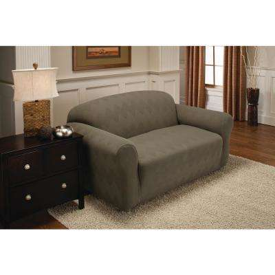 Sage Optic Loveseat Stretch Slipcover