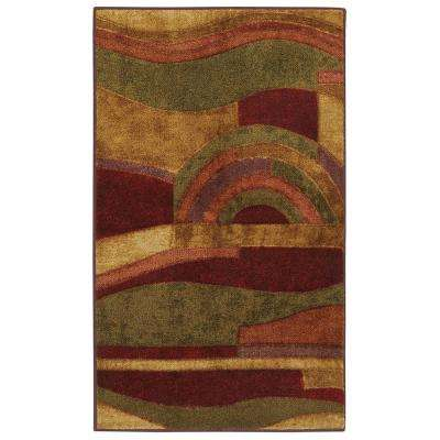 Picasso Wine Set - Set Includes: 6 ft. x 9 ft. Indoor Area Rug and Rug Pad