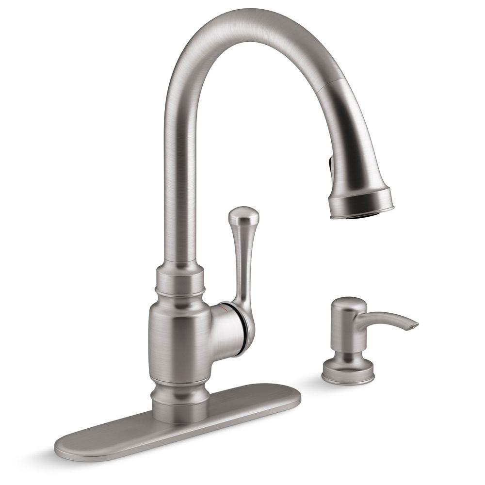 Kitchen Faucets Kohler: KOHLER Carmichael Single-Handle Pull-Down Sprayer Kitchen