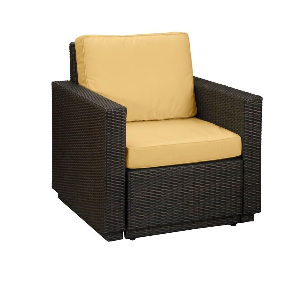 Home Styles Riviera Harvest Patio Arm Chair