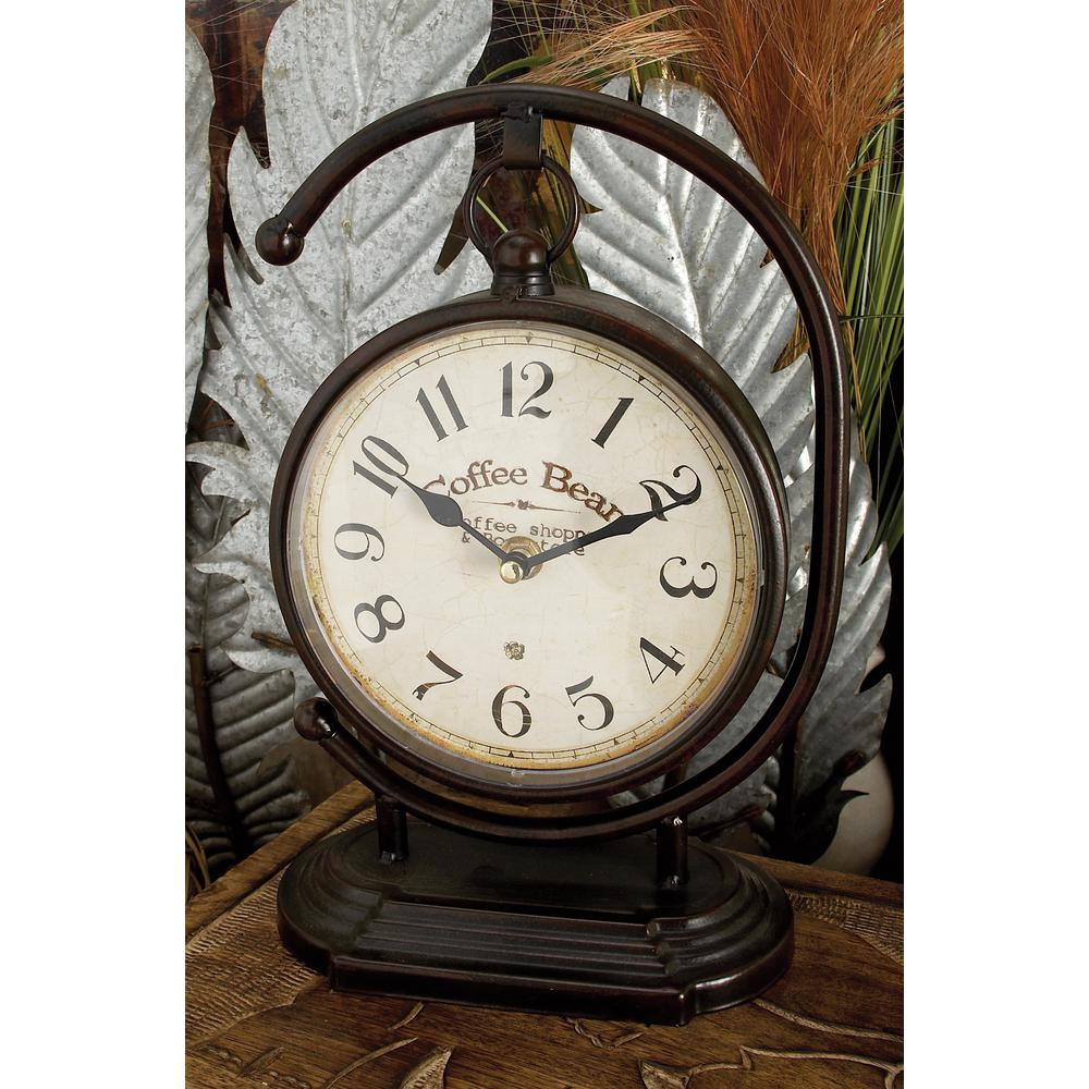 11 in. x 7 in. Multi Round International Caf Desk Clocks