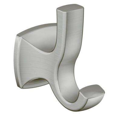 Voss Double Robe Hook in Brushed Nickel