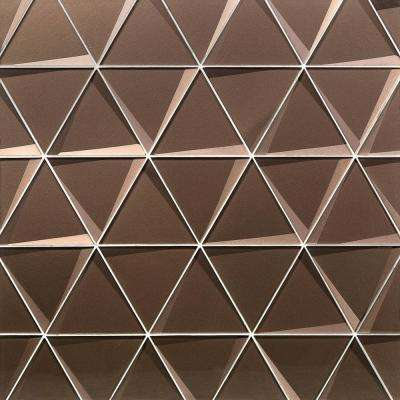 Wister Bronze 5 19 In X 12 06 12mm Polished Gl Mosaic Wall Tile
