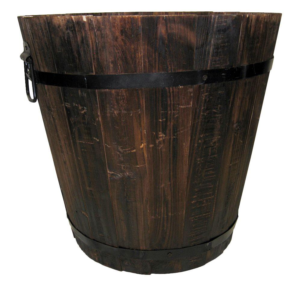 Pennington 14 in. Dia Dark Flame Wood Bucket