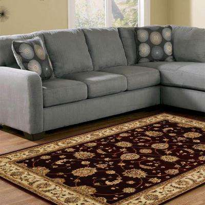 Dynasty Burgundy 9 ft. 2 in. x 12 ft. 5 in. Area Rug