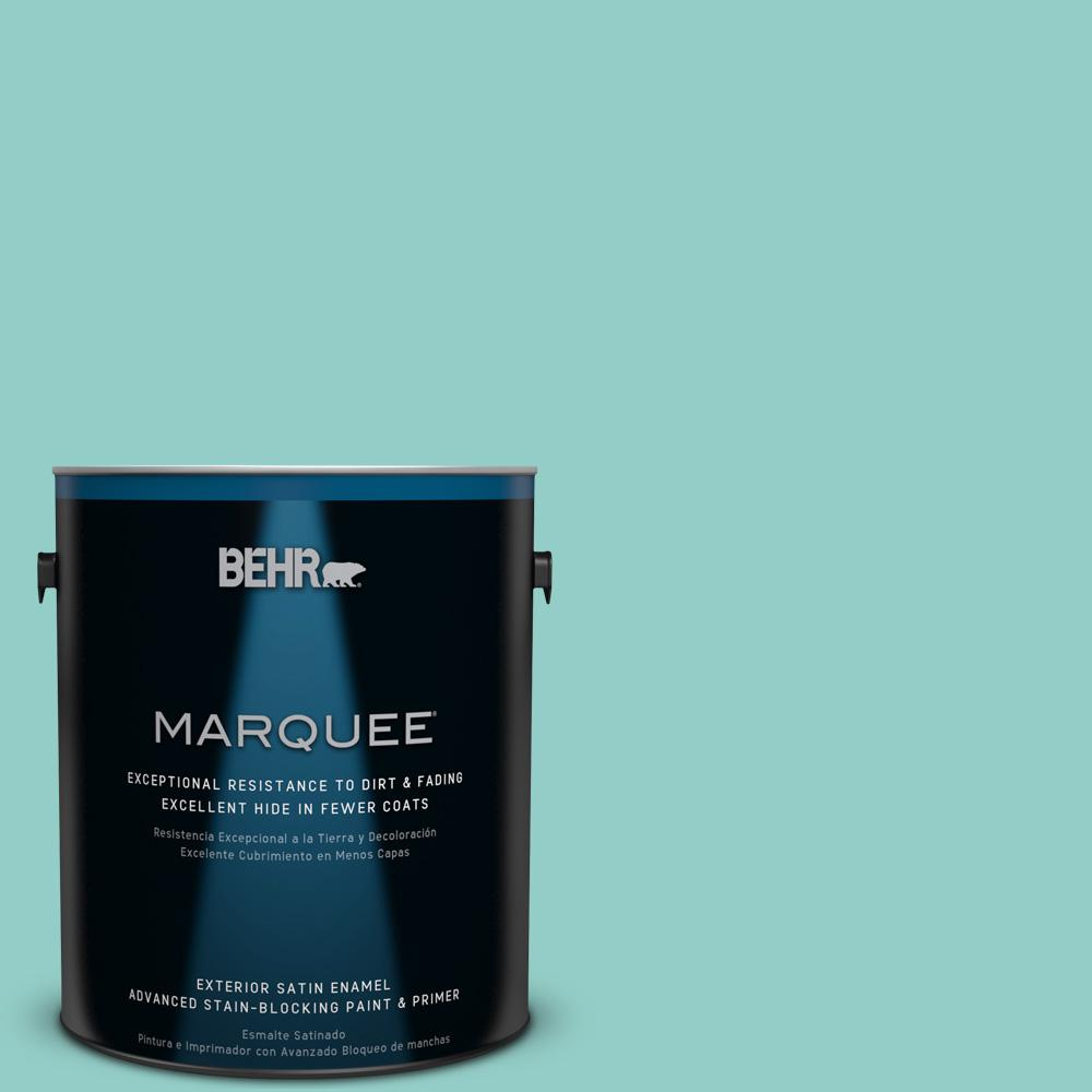 BEHR MARQUEE 1-gal. #500D-4 Jamaica Bay Satin Enamel Exterior Paint