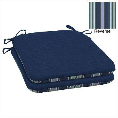 Sapphire Leala Texture Reversible Outdoor Seat Cushion (Pack of 2)