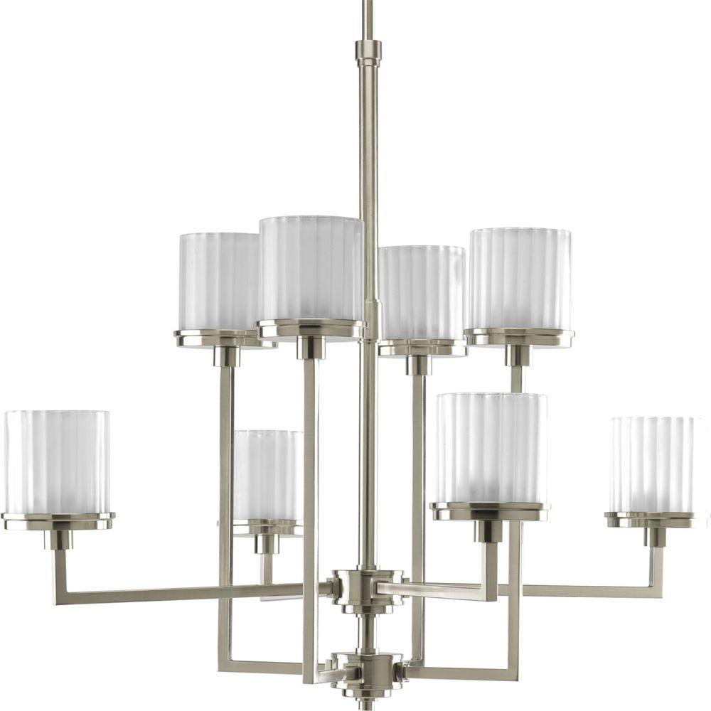 Progress Lighting Encore Collection 8-Light Brushed Nickel Chandelier-DISCONTINUED