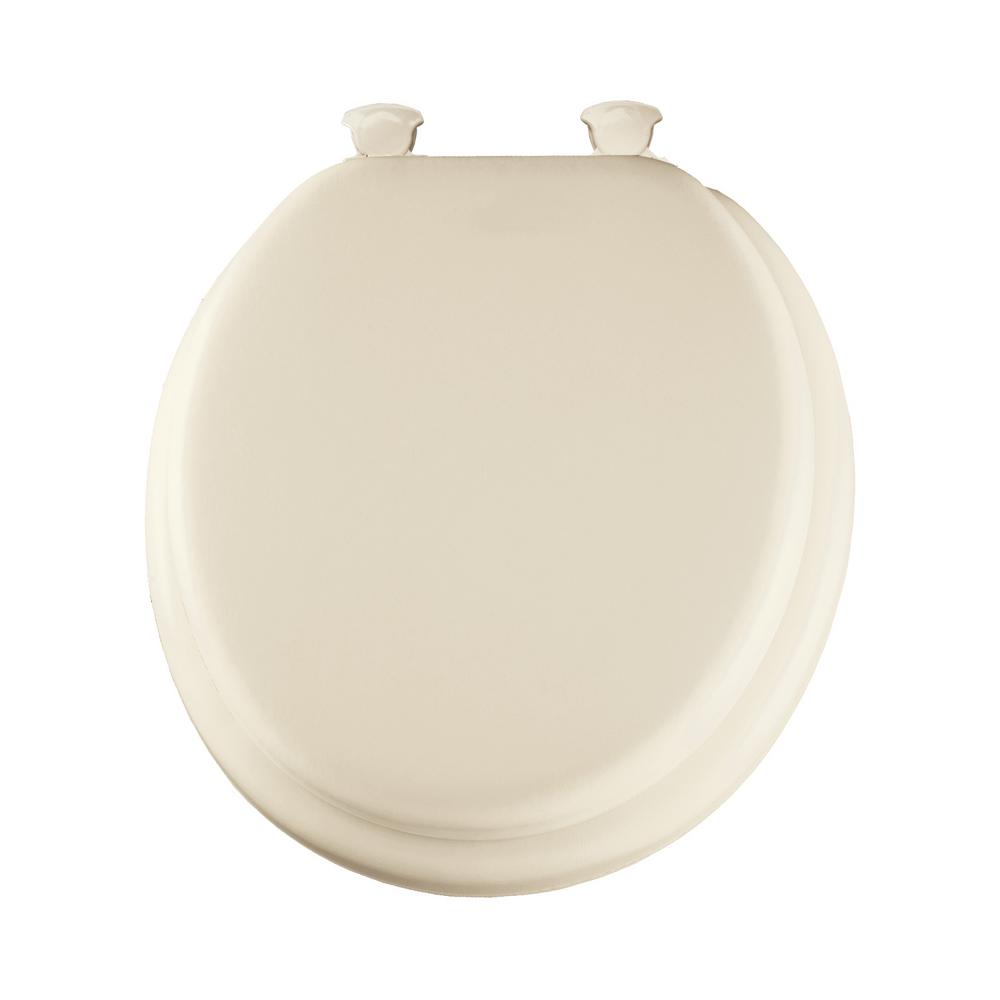 Lift-Off Soft Round Closed Front Toilet Seat in Biscuit