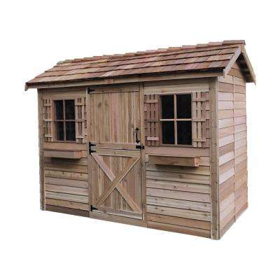 Cabana 10 ft. 2 in. x 6 ft 11 in. Western Red Cedar Garden Shed