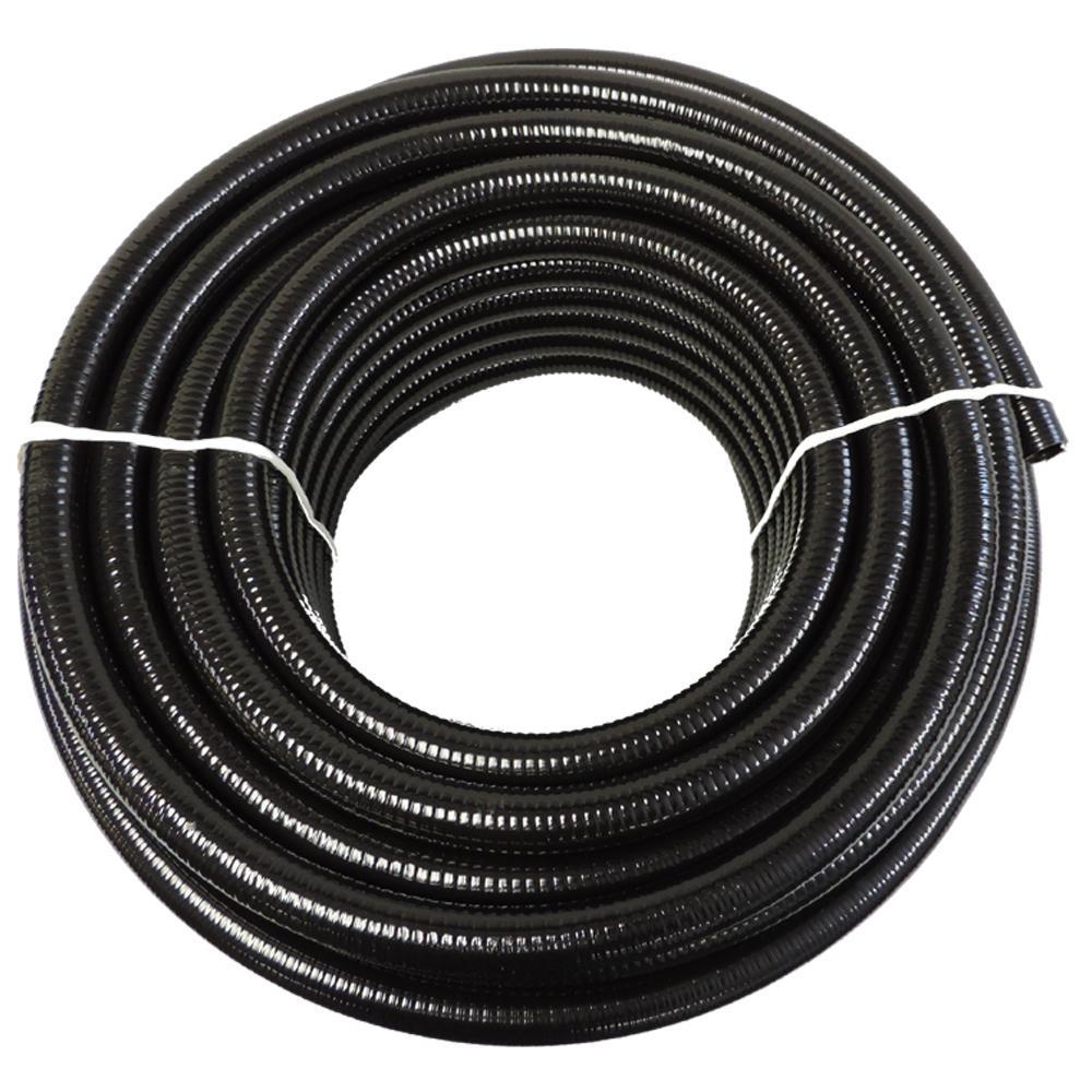 3 in. x 10 ft. Black PVC Schedule 40 Flexible Pipe