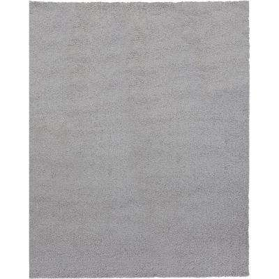 Shaggy Gray 9 ft. 3 in. x 12 ft. 6 in. Area Rug