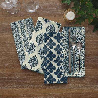 17 in. W x 17 in. L Elrene Everyday Indigo Printed Napkins (Set of 24)