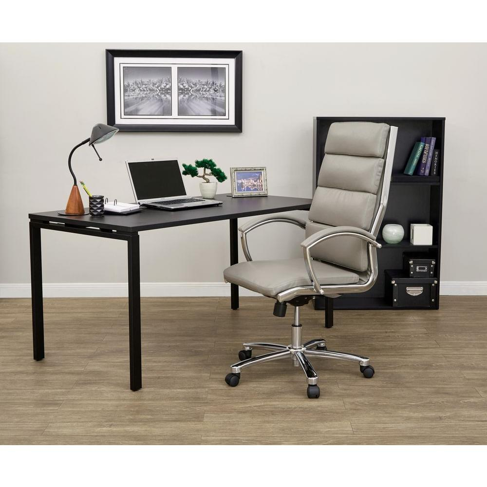 work smart white faux leather executive office chair
