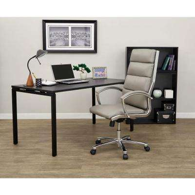 Smoke Faux Leather Executive Office Chair