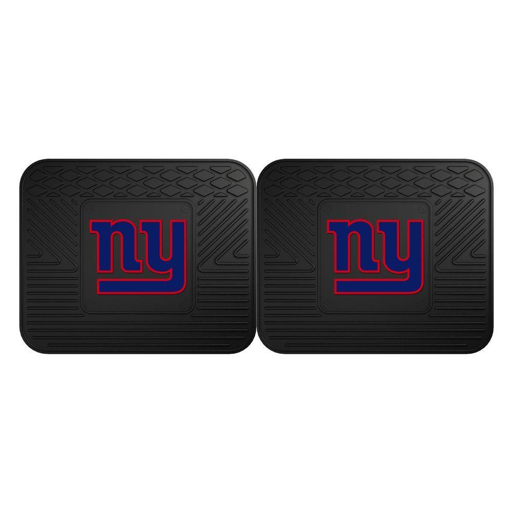NFL New York Giants Black Heavy Duty 2-Piece 14 in. x 17 in. Vinyl Utility